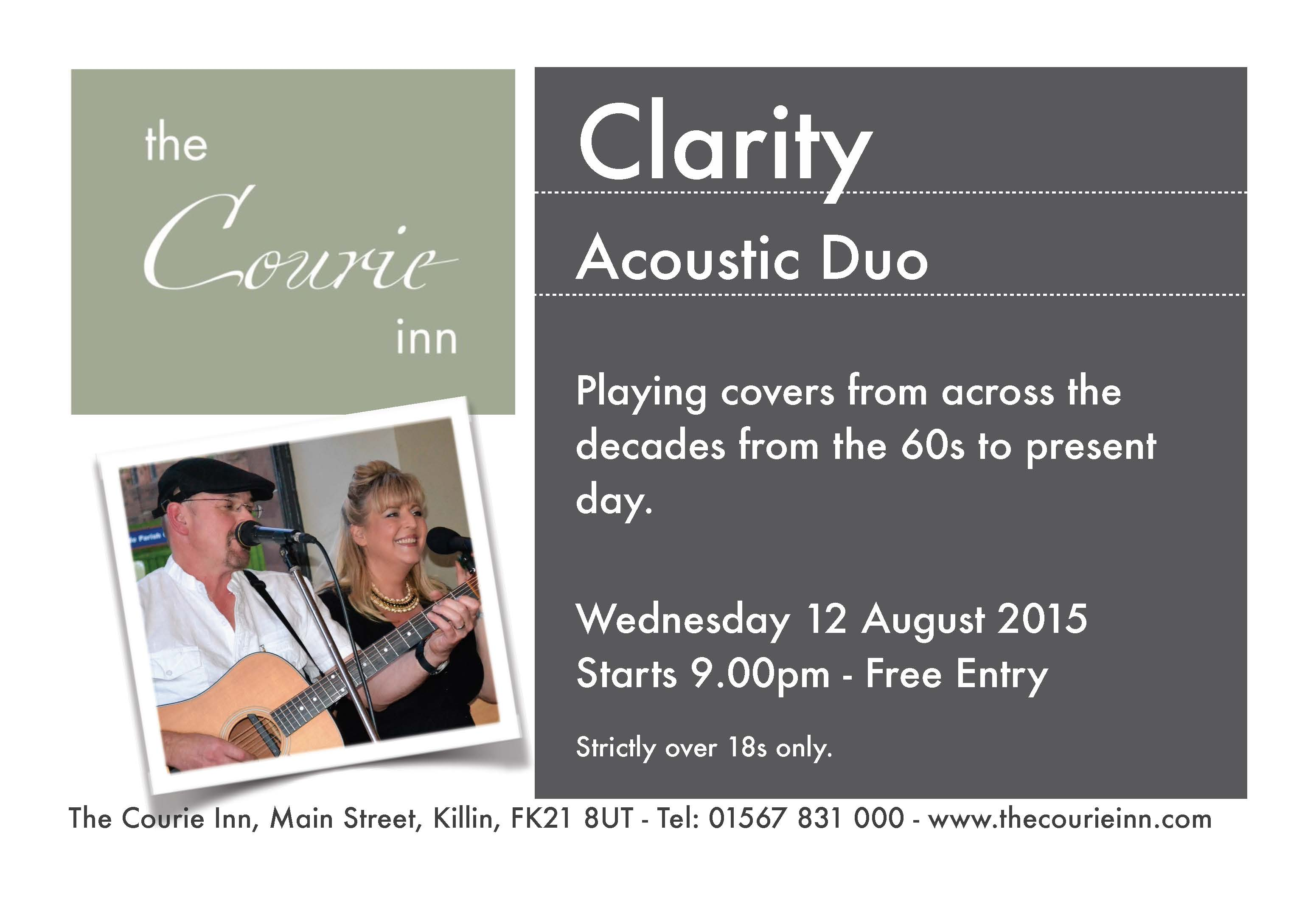 Clarity - Acoustic Duo at the Courie Inn, Killin